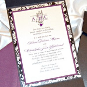 Filigree Monogram  Wedding Invitation