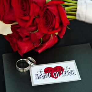 Hearts Game Board Pocket Invitation