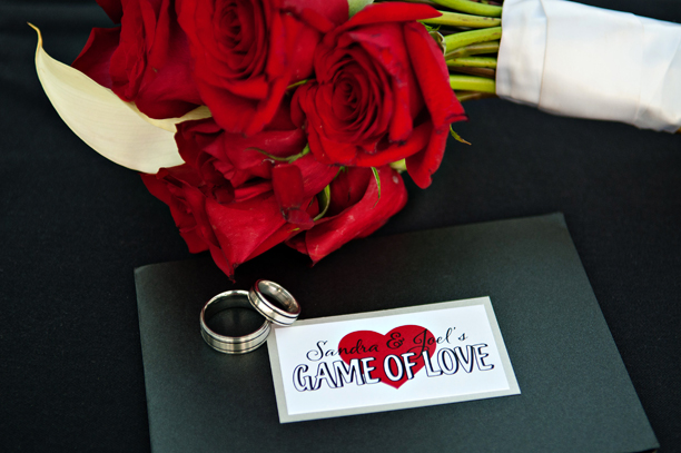 Game of Love Pocketcard Wedding Invitation