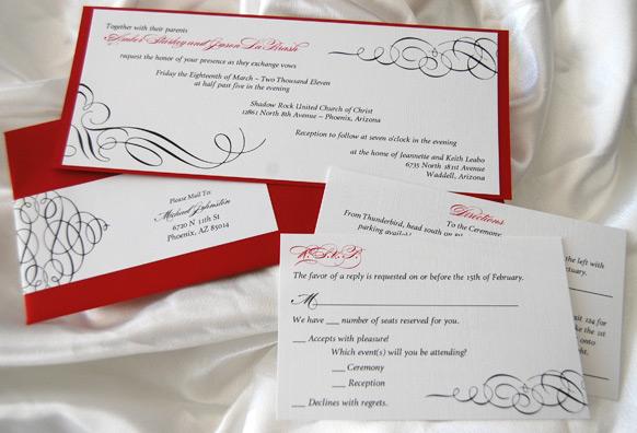 Swirls Wedding Invitation
