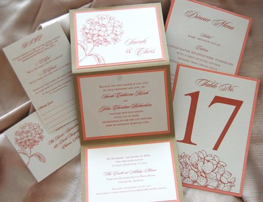 Flower Bunch ZFold Wedding Invitation