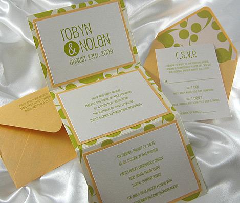 SwirlyDot ZFold Wedding Invitation