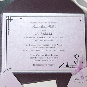 Count of Monte Cristo Wedding Invitation