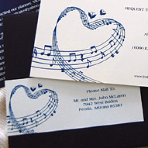 Music Sheet Wedding Invitation Suite
