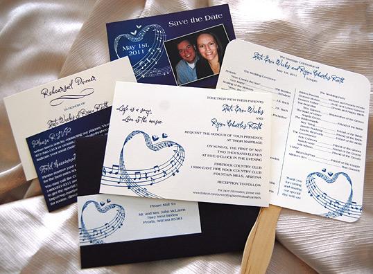 Music Sheet Wedding Invitation Suite