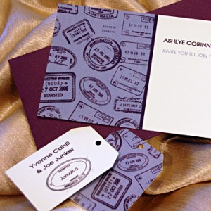 Passport Stamps Wedding Invites