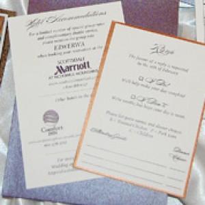 Burgundy and Gold Script Wedding Invites