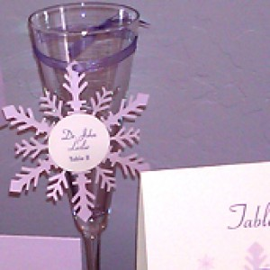 Snowflake Cutout Wedding Escort Card