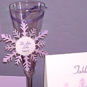 Snowflake Cutout Wedding Escort Card
