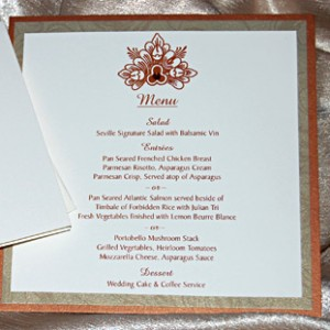 Henna Style Floral Reception Menu