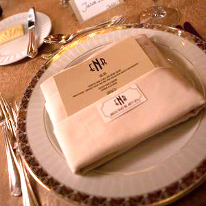 Art Deco Monogram Reception Menu