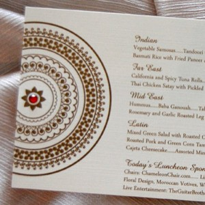 Indian Pattern Wedding Reception Menu