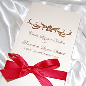 Filigree Reception Program with Ribbon