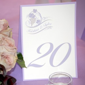Light Purple Grapevines Wedding Reception