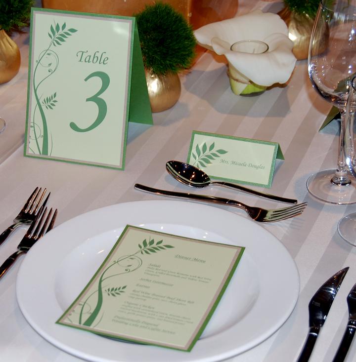 Greenery Wedding Reception Table Setting