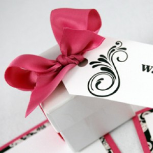 Scroll Favor Tags With Ribbon