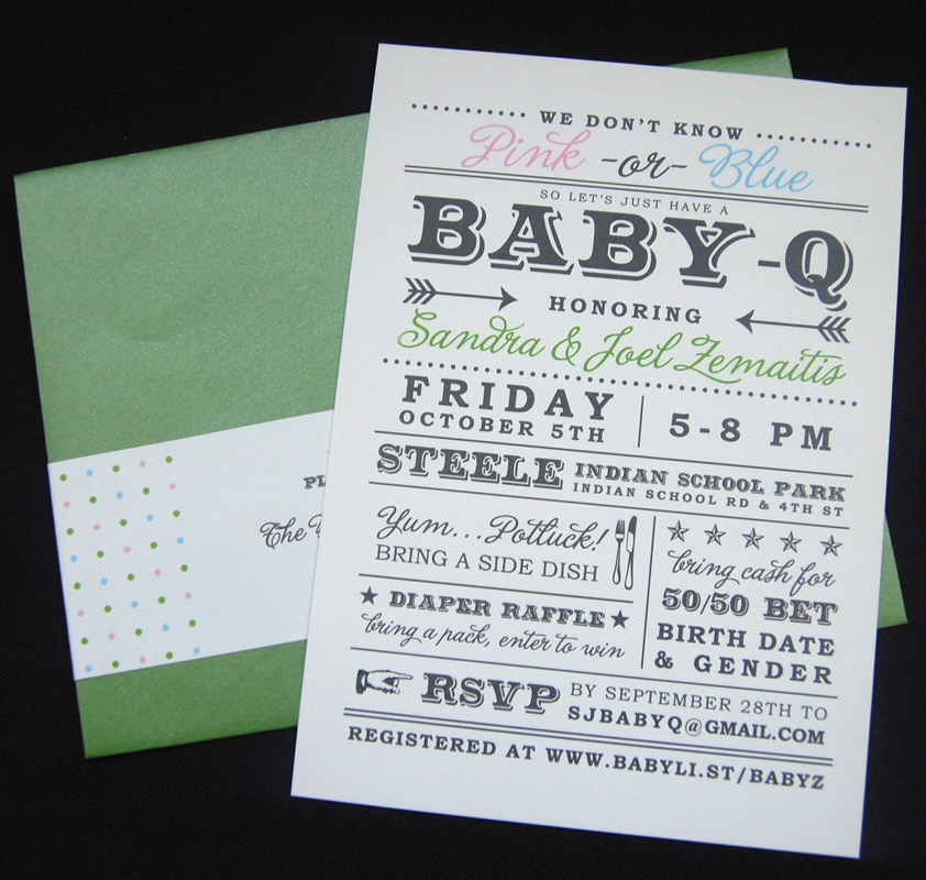 Modern Baby Q Baby Shower Invitation