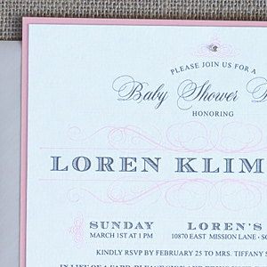 Elegant Swirls Baby Shower Invitation