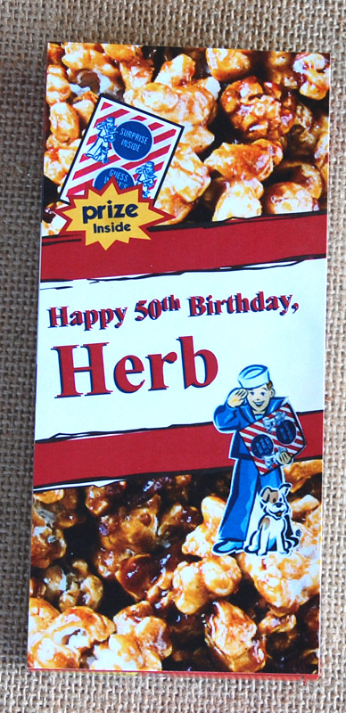 Cracker Jacks 50th Birthday Party Invitations