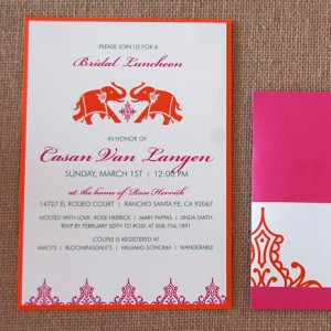 Indian Elephant Bridal Luncheon Invitation