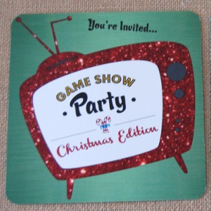 Game Show Christmas Party Invitation