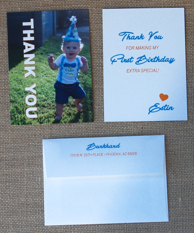 Photo Envelope Thank You Card