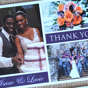 Wedding Photos Collage Thank You Cards