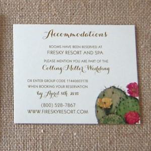 Vibrant Cactus Blossoms Wedding Invitation