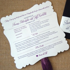 Scalloped Edge Program Fan and Invitation