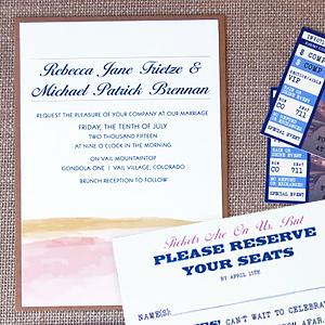 Ticket Wedding Announcement