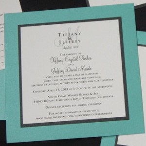 Layered Tiffany Blue Wedding Items