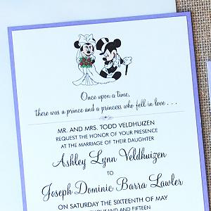Mickey and Minnie Wedding Invitation