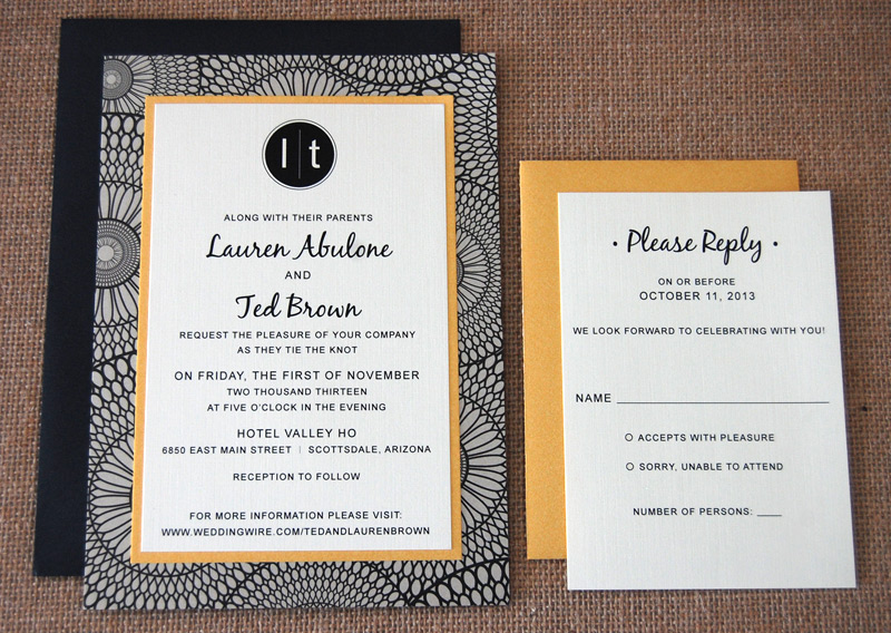 Layered Geometric Wedding Invitation