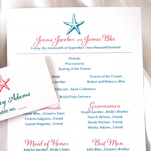 Shell and Starfish  Wedding Invitation