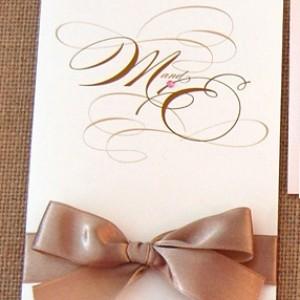 Cursive Monogram Wedding Invitation