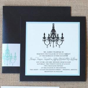 Chandelier Pocket Card Wedding Invitation