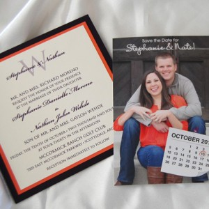 Photo Save The Date and Pocketcard Invitation