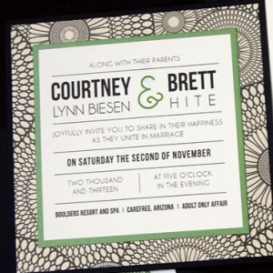 Square Pocketcard Wedding Invitation