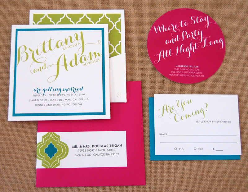 Bright & Bold Moroccan Pattern Pocket Card