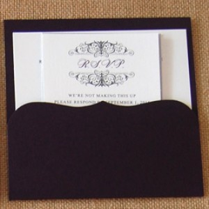 Monogram Bracket Pocket Invitation