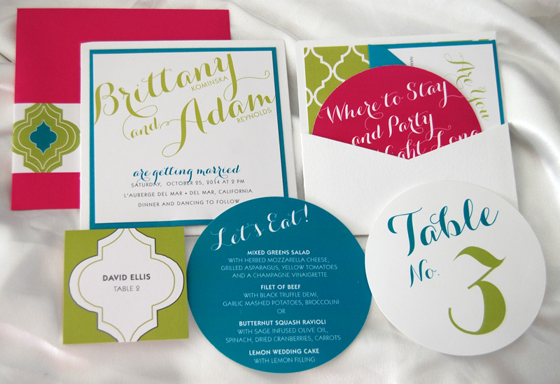 Vibrant Quadrofoil Wedding Initations