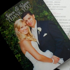 Wedding Photos Thank You Cards