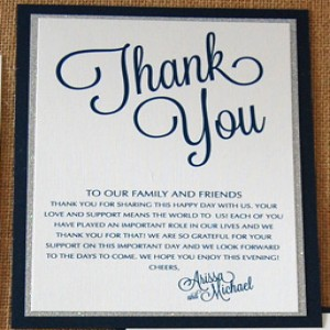 Wedding Reception Madlib and Thank You's