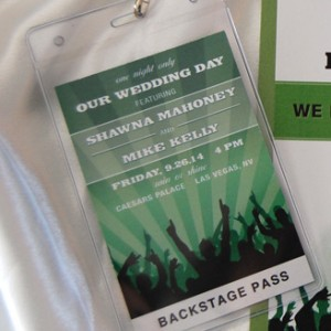 Shamrock Concert Style Save The Date Lanyard