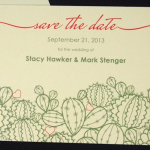 Phoenix Cactus Save the Date Card