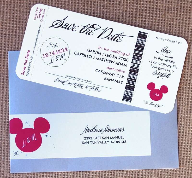 Disney Ticket Save the Date