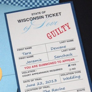 Police Ticket Save the Date Card