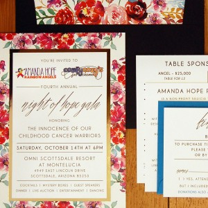 Charity Floral Layered Invitation C Suite
