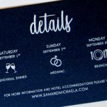 Beautiful wedding invite & day off needs!